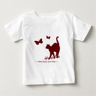 Rote Miezekatze-Katzen -/kastanienbraunes Baby Baby T-shirt