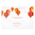 Rote moderne Papierlaternen, die UAWG (3.5x5, Individuelle Einladungen