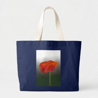 Rote Mohnblume Blume Jumbo Stoffbeutel