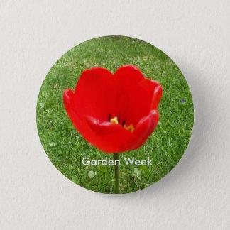 Rote Mohnblume-Garten Woche Runder Button 5,1 Cm
