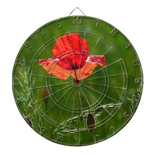 Rote Mohnblume im Sommer Dartscheibe