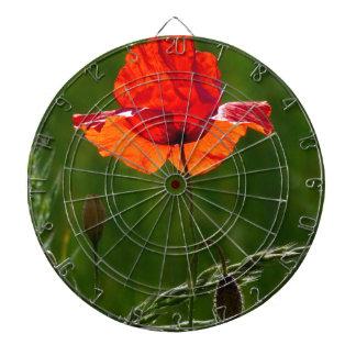 Rote Mohnblume in Sommer 02 Dartscheibe