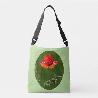 Rote Mohnblume in Sommer 02 Tragetaschen Mit Langen Trägern
