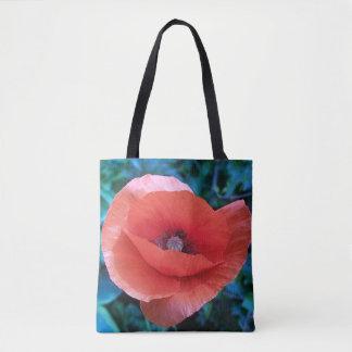 Rote Mohnblume Tasche
