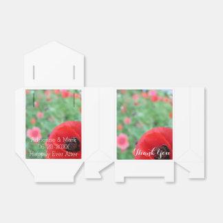 Rote Mohnblumen-Bevorzugungs-Tasche Geschenkschachtel