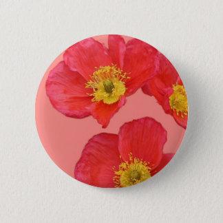 Rote Mohnblumen-Blumen Runder Button 5,7 Cm