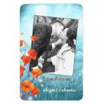 Rote Mohnblumen-Blumenjungvermählten-Hochzeits-Ges