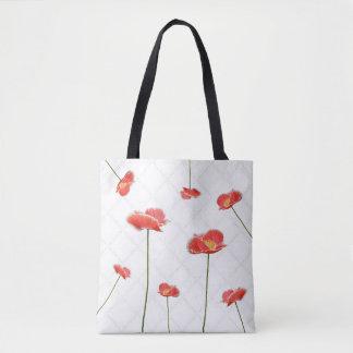 Rote Mohnblumen einfach aber schön Tasche