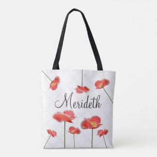 Rote Mohnblumen einfach und schönes Tasche