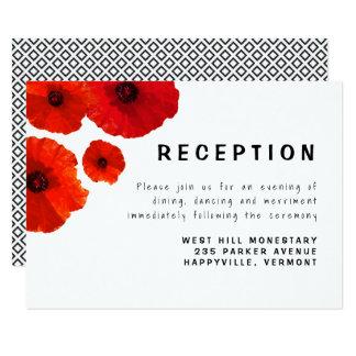 Rote Mohnblumen-Empfangs-Einschließungs-Karte Karte