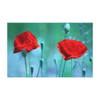 Rote Mohnblumen Leinwanddruck
