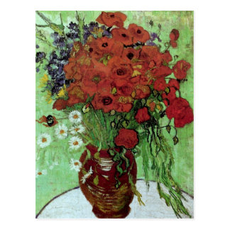 Rote Mohnblumen-u. der Gänseblümchen-(F280) Van- Postkarte