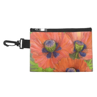 Rote Mohnblumen-Zusatz-Tasche Kulturtasche