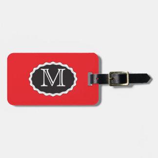 Rote Monogramm-Gepäck-Taschen-Umbau-Schablone Kofferanhänger