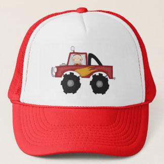 Rote Monster-LKW-T-Shirts und Geschenke Truckerkappe