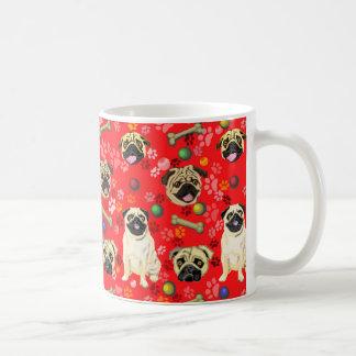 Rote Mops-Entwurfs-Tasse Kaffeetasse