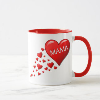 Rote Mutter Hearts Tasse