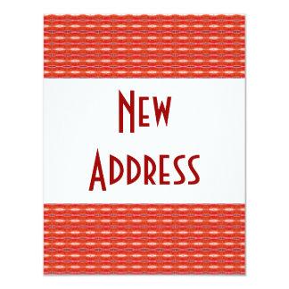 Rote neue Adresse 10,8 X 14 Cm Einladungskarte