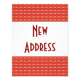 Rote neue Adresse Einladungskarte