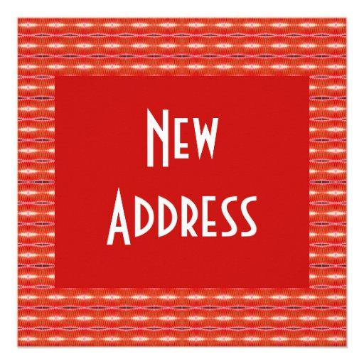 Rote neue Adresse Ankündigungskarte