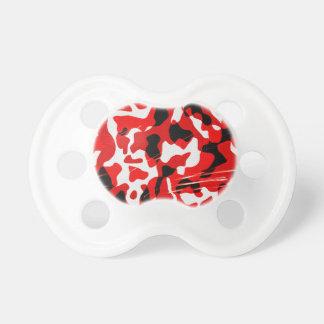 Rote Niederschlag-Camouflage (AOM Entwurf) Schnuller