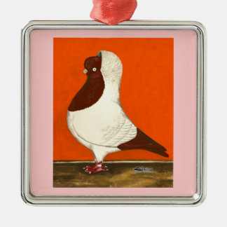 Rote Nonnen-Taube Silbernes Ornament