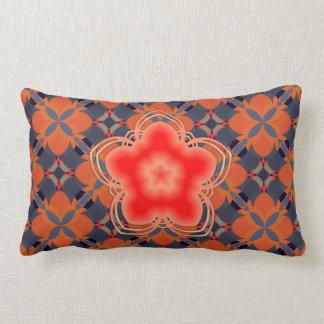 Rote Opium-Lotos-Blume Lendenkissen
