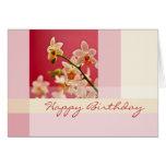 Rote Orchidee • Geburtstags-Karte Grußkarte