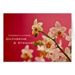 Rote Orchidee • Hochzeits-Glückwunsch-Karte