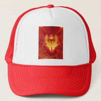 Rote Orchidee Truckerkappe