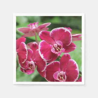 Rote Orchideenblüte Serviette