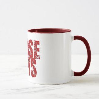 Rote Ordnungs-Tasse der mutigen jener Typen Tasse