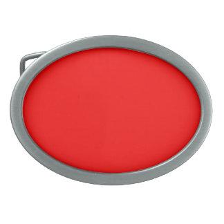 Rote ovale Gürtelschnalle