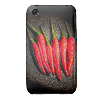 Rote Paprika-Paprikaschoten iPhone 3 Case-Mate iPhone 3 Cover