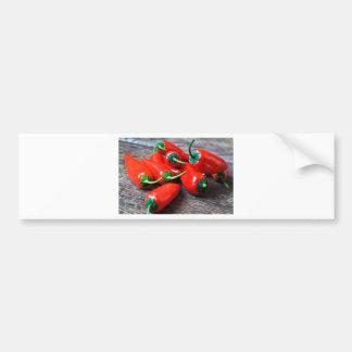 Rote Paprika - Stillleben Autoaufkleber