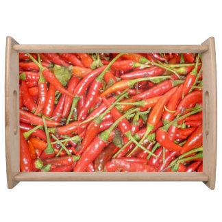 rote Paprikas groß Serviertablett