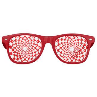 Rote Party-Schatten Retro Sonnenbrillen