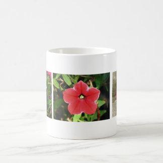 Rote Petunien Kaffeetasse