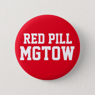 Rote Pille MGTOW Runder Button 5,7 Cm