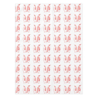 Rote Pinguine Tischdecke