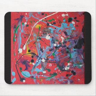 Rote platsche Malerei-Mäusematte Mauspad