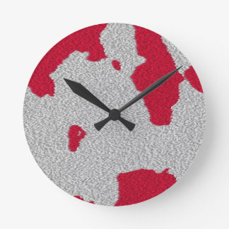 Rote platsche Uhr
