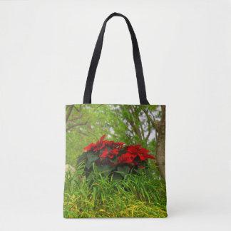 Rote Poinsettia Tasche