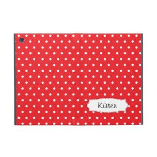 Rote Polkapunkt-Blumen nennen ipad Minipowis Fall iPad Mini Etuis