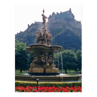 Rote Prinzessin Street arbeitet, Edinburgh, Postkarte