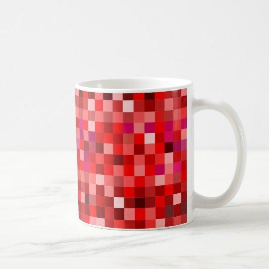 Rote Prixel Kaffeetasse