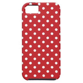 Rote Punkte Fünfzigerjahre iPhone 5 Etui