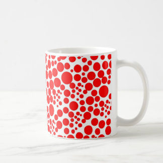rote punkte pünktchen polka kreise tupfen schnee kaffeetasse