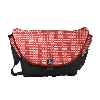 Rote Rauten-Druck-Bote-Tasche Kurier Taschen