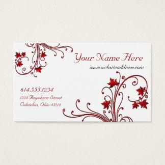 Rote Rebe-/Ahornblatt-Entwurfs-Visitenkarten Visitenkarte